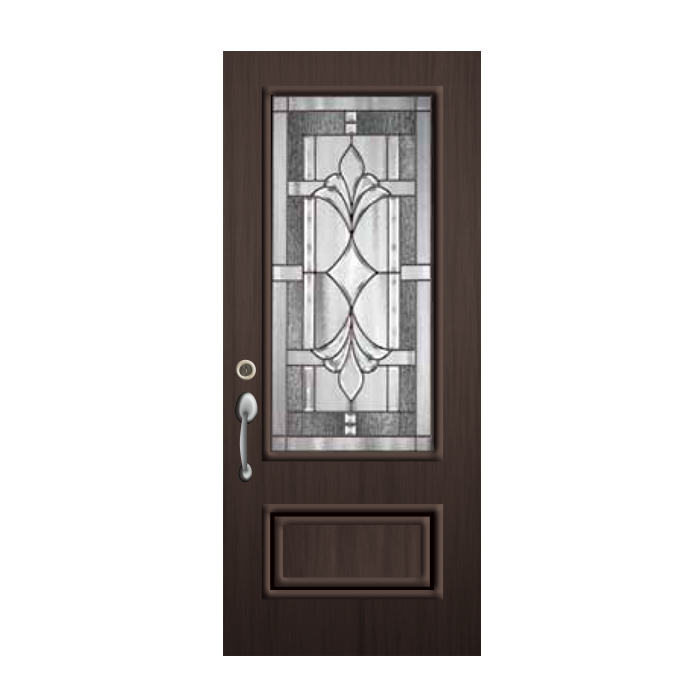 Commercial brown exterior door pt2248 for Commercial exterior doors