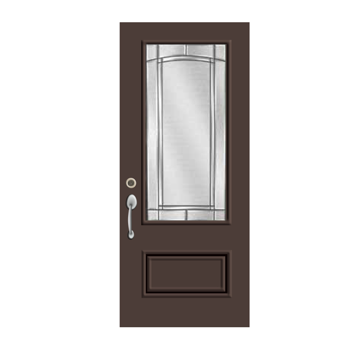 Commercial brown exterior door ri2248 for Commercial entry doors